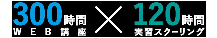 300時間WEB講座x120時間実習スクーリング
