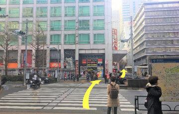 アークアカデミー新宿駅前校への地上アクセス3